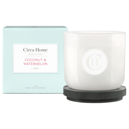 Circa Home Coconut & Watermelon Classic Candle 260g by Circa Home Candles & Diffusers
