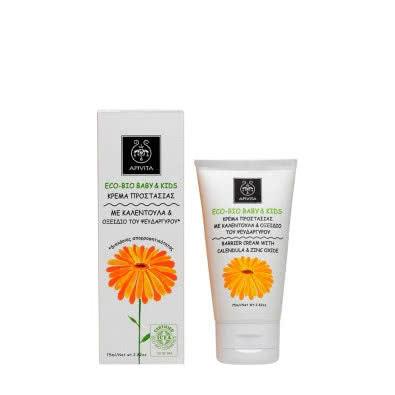 APIVITA Eco-Bio Baby & Kids Barrier Cream with Calendula & Zinc Oxide