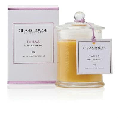 Glasshouse Tahaa Mini Candle - Vanilla Caramel 60g  by Glasshouse Fragrances