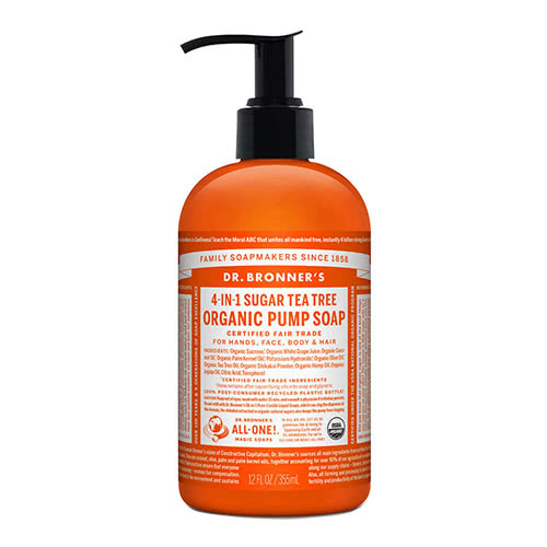 Dr. Bronner 4-in-1 Sugar Tea Tree Organic Pump Soap by Dr. Bronner's