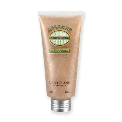 L'Occitane Cleansing and Exfoliating Shower Scrub With Flaked Almonds