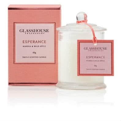 Glasshouse Esperance Mini Candle - Mimosa & Wild Apple 60g by Glasshouse Fragrances