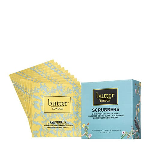 butter LONDON Scrubbers 2-in-1 Prep & Remover Wipes by butter LONDON