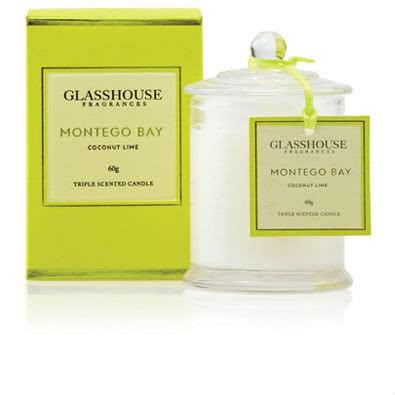 Glasshouse Montego Bay Mini Candle - Coconut Lime 60g by Glasshouse Fragrances