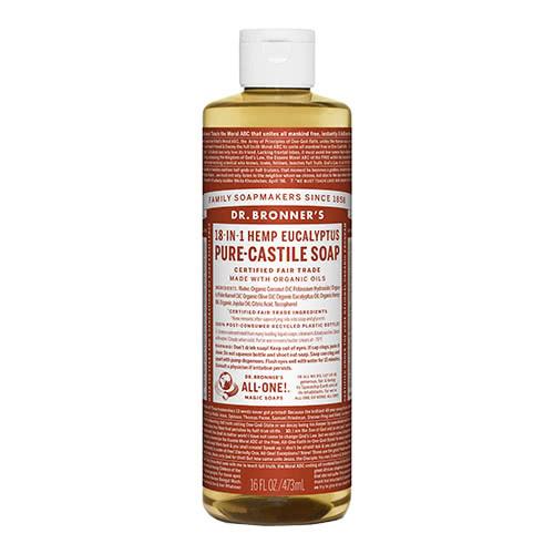 Dr. Bronner Castile Liquid Soap - Eucalyptus 473ml by Dr. Bronner's