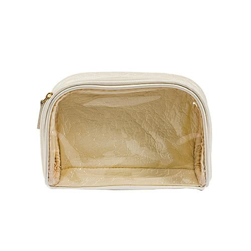 Jane Iredale Cosmetics Quilted Clearview Makeup Bag by jane iredale