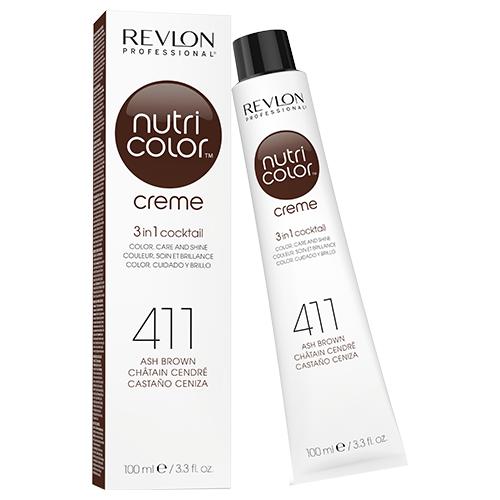 Revlon Professional Nutri Color Crème - 411 Ash Brown 100ml by Revlon Professional