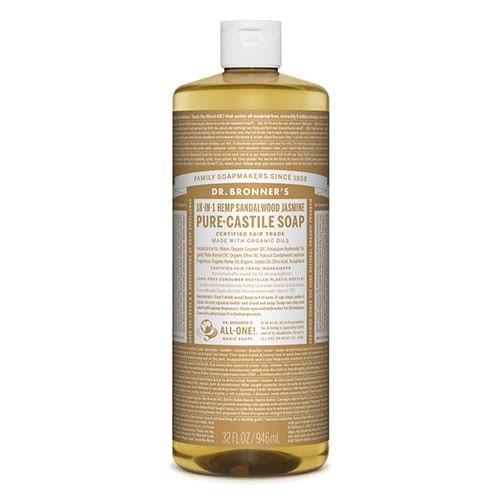 Dr. Bronner Castile Liquid Soap - Sandalwood & Jasmine 946ml