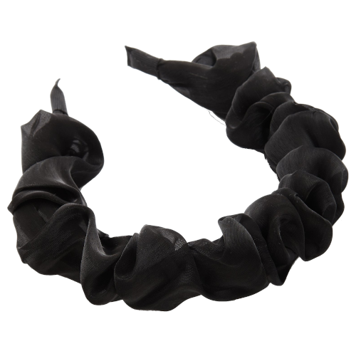 Reliquia Organza Ruffled Headband Black