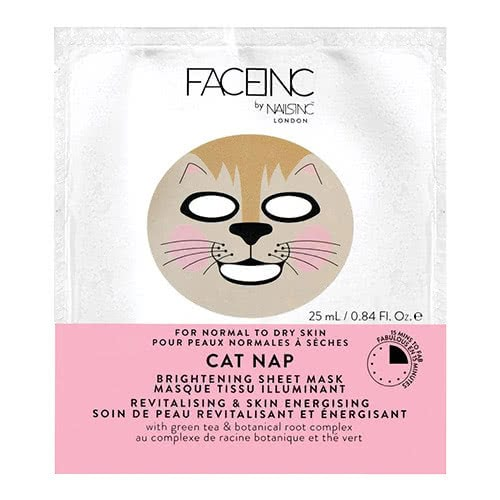 Face Inc Cat Nap Sheet Mask - Brightening by nails inc.