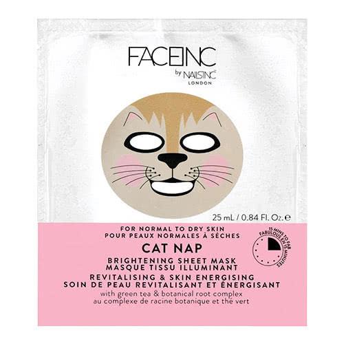 Face Inc Cat Nap Sheet Mask - Brightening
