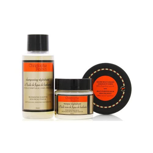 Christophe Robin Regenerating Hair Ritual Travel Kit by Christophe Robin
