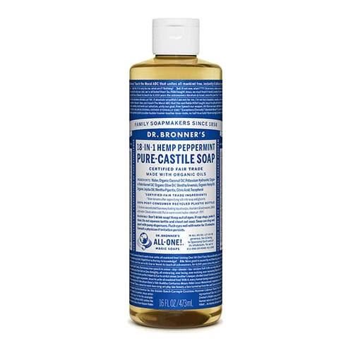Dr. Bronner Castile Liquid Soap - Peppermint 473ml by Dr. Bronner's
