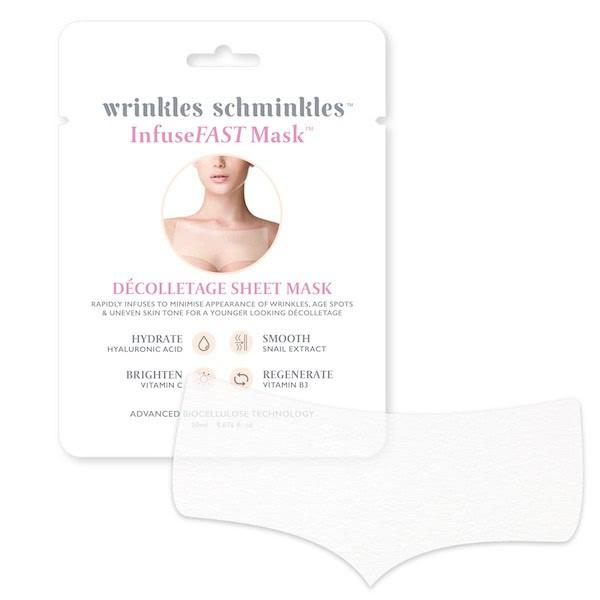 Wrinkles Schminkles InfuseFAST Decolletage Sheet Mask by Wrinkles Schminkles