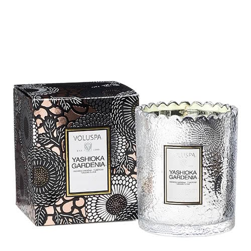 Voluspa Yashioka Gardenia Scalloped Candle by Voluspa