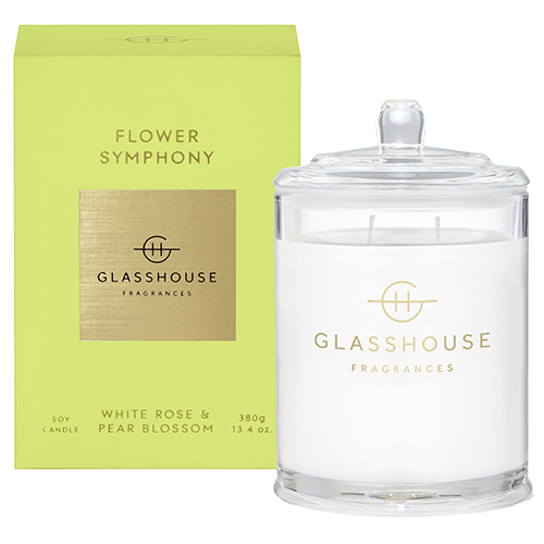 Glasshouse FLOWER SYMPHONY Candle 380g by Glasshouse Fragrances