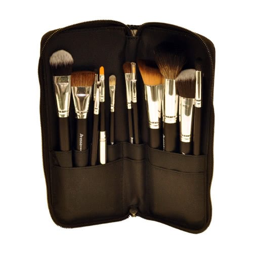 Kryolan Classic Beauty Set-  Silver Handle Brush Set - 12 Piece by Kryolan