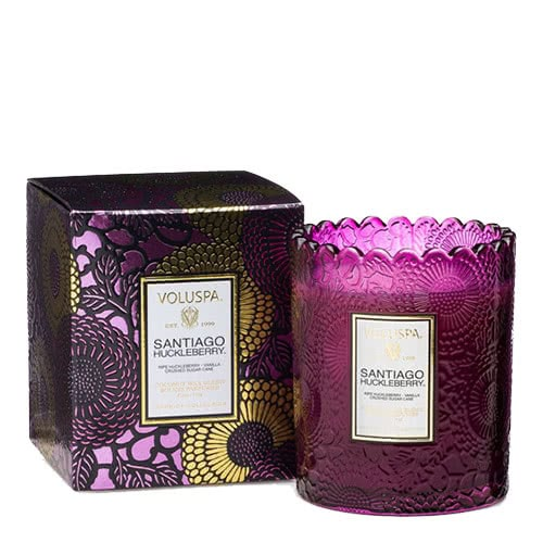 Voluspa Santiago Huckleberry Scalloped Candle by Voluspa