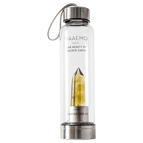 Maaemo Citrine Crystal Infusion Water Bottle by MAAEMO