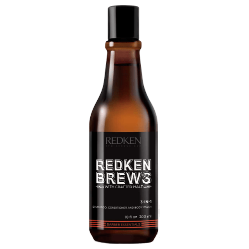 Redken Brews 3 In 1 Shampoo, Conditioner and Body Wash 300ml