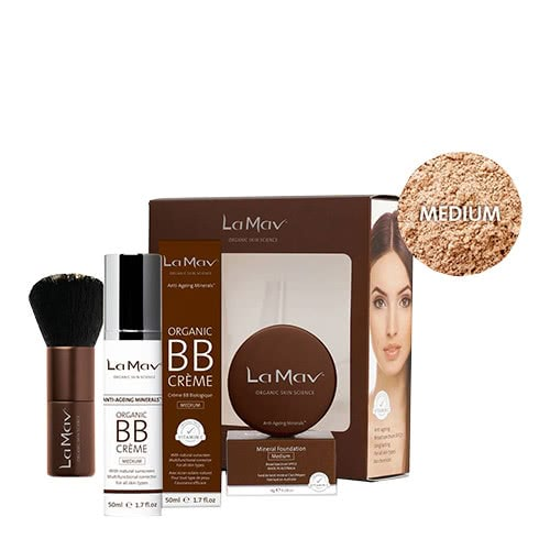 La Mav Organic 'B' Beautiful Makeup Collection - Medium by La Mav Organic Skin Science