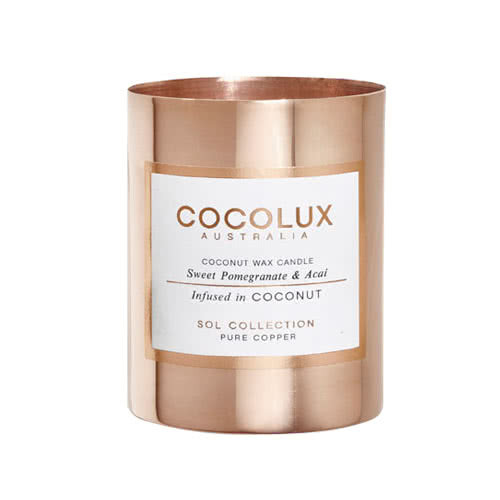 Cocolux Candle – Sweet Pomegranate & Acai 150g	 by Cocolux Australia