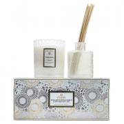 Voluspa Mokara Scalloped Candle and Diffuser Gift Set