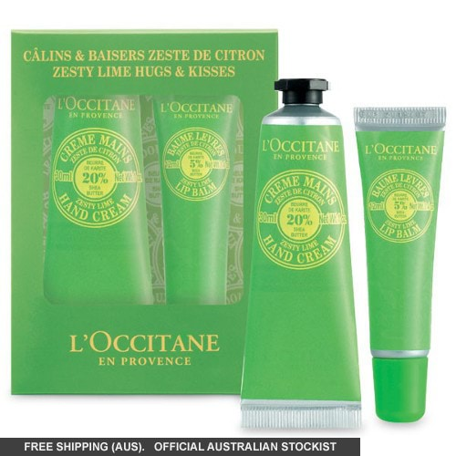 L'Occitane Shea Zesty Lime Hugs & Kisses Set by loccitane