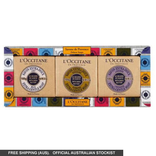 L'Occitane Savons De Provence Deluxe Shea Soap Trio - 2014 by loccitane