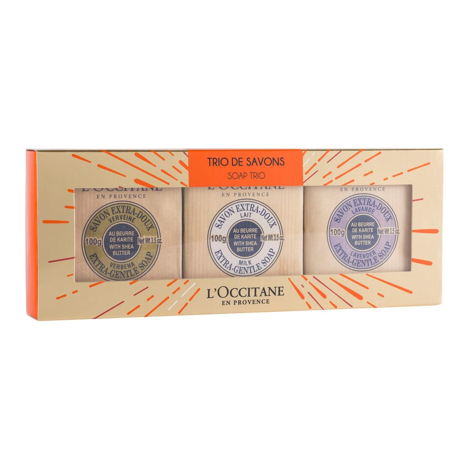 L Occitane Deluxe Soap Trio Free Post