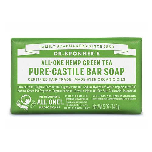 Dr. Bronner Castile Bar Soap - Green Tea by Dr. Bronner's