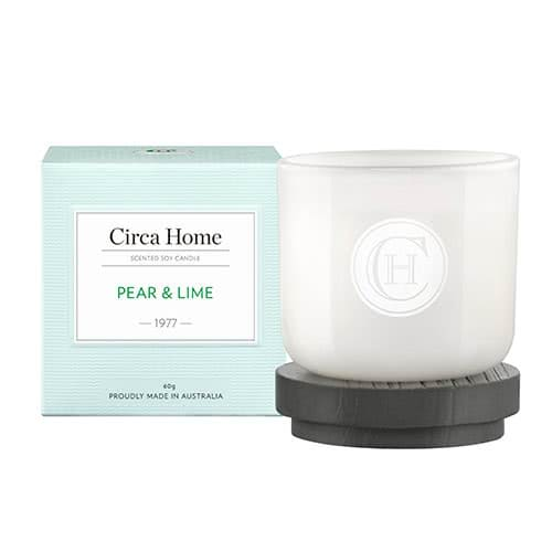 Circa Home Pear & Lime Miniature Candle 60g by Circa Home Candles & Diffusers