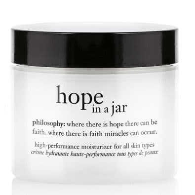 philosophy hope in a jar high performance moisturiser by philosophy