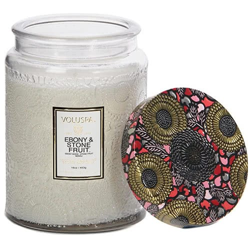 Voluspa Ebony & Stone Fruit Jar Candle by Voluspa