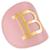 Balmain Paris Pink/gold Leather Hair Clip