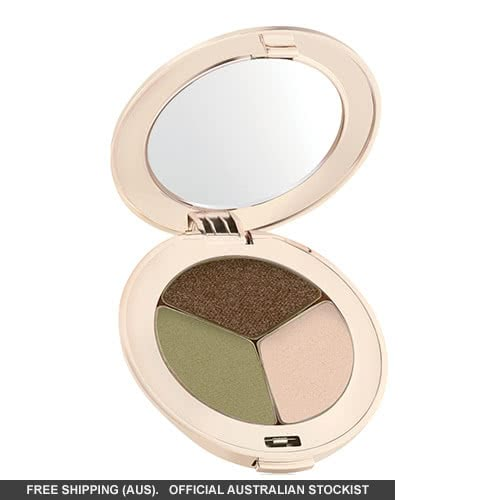 Jane Iredale PurePressed Eye Shadows: Triple - Khaki Kraze: part shimmer by jane iredale color Khaki Kraze: part shimmer