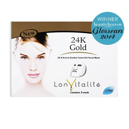 Lonvitalite 24K Gold Active Gold Yulan Facial Mask by Lonvitalite