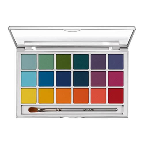 Kryolan 18 Eye Palette - V2 Brights by Kryolan Professional Makeup