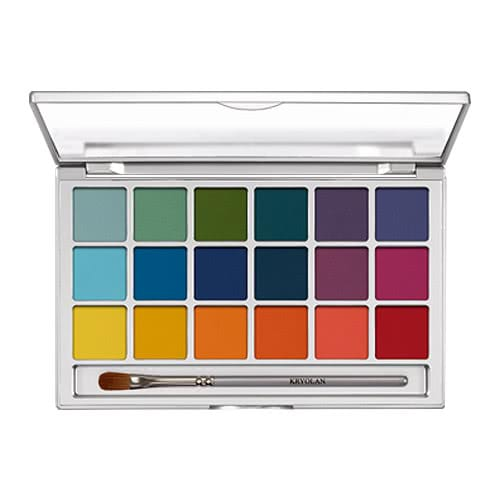 Kryolan Eye 18 Palette – V2 Brights by Kryolan