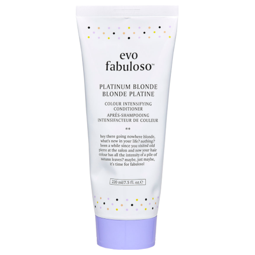 evo Fabuloso Platinum Blonde Intensifying Conditioner 220ml Tube by evo