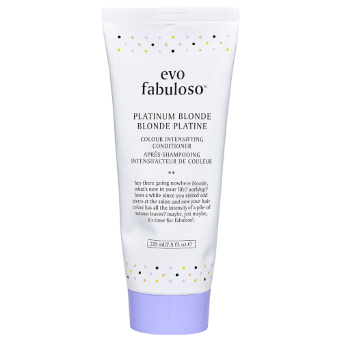 evo Fabuloso Platinum Blonde Intensifying Conditioner 220ml Tube