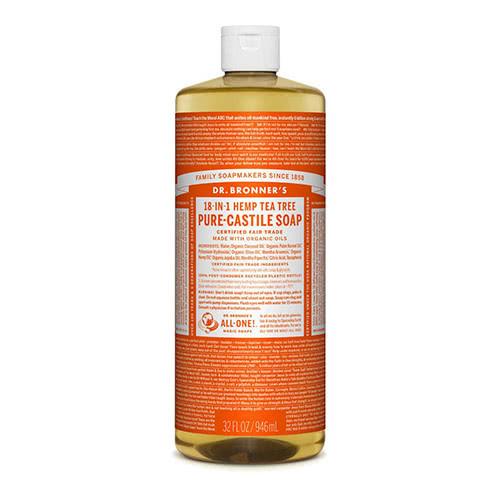 Dr. Bronner Castile Liquid Soap - Tea Tree 946ml by Dr. Bronner's