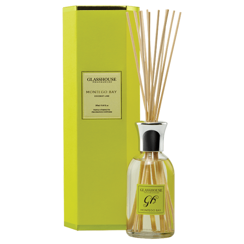 Glasshouse Montego Bay Diffuser - Coconut Lime by Glasshouse Fragrances