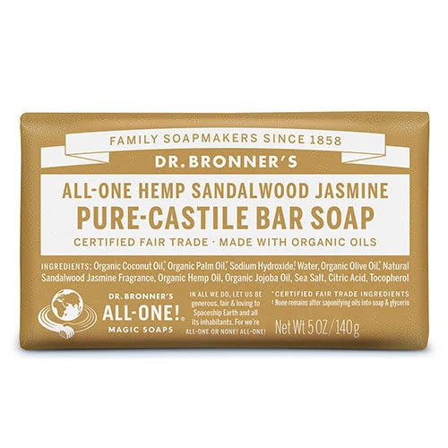 Dr. Bronner Castile Bar Soap – Sandalwood & Jasmine by Dr Bronner-s