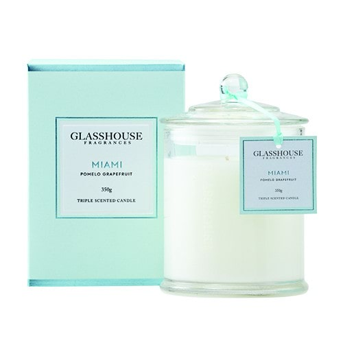 Glasshouse Miami Candle - Pomelo Grapefruit 350g by Glasshouse Fragrances