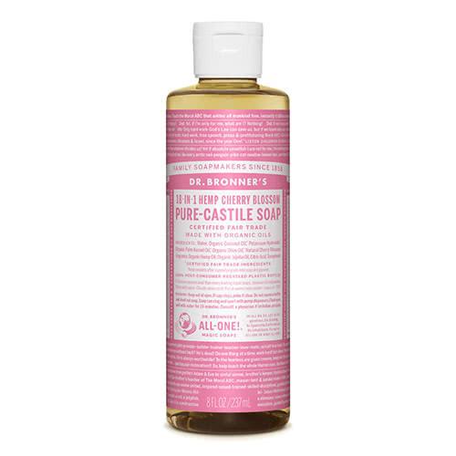 Dr. Bronner Castile Liquid Soap - Cherry Blossom 237ml