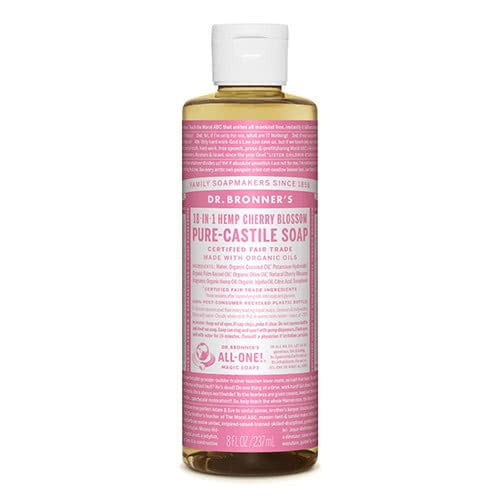 Dr. Bronner Castile Liquid Soap - Cherry Blossom 237ml