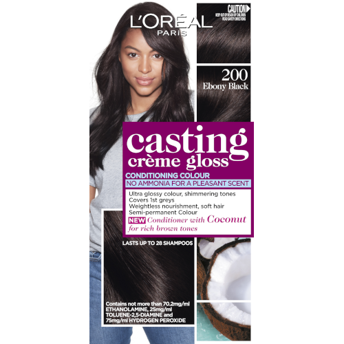 L'Oreal Paris Casting Crème Semi-Permanent Hair Colour (Ammonia Free) - Ebony Black 300 by L'Oreal Paris