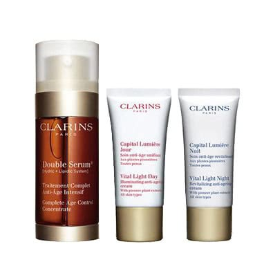Clarins Double Serum 30mL + Vital Light Gift Set
