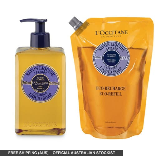 L'occitane Lavender Liquid Soap Eco Duo by loccitane